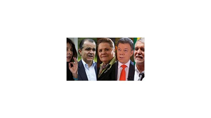 Candidatos presidenciales 2014.