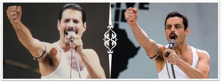 Fredy Mercury y el actor Ramy Malek