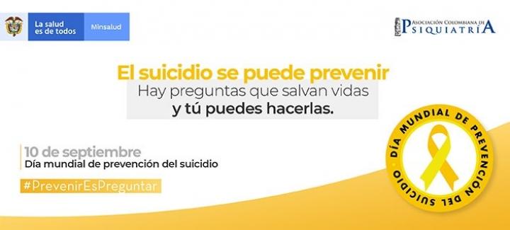 Campaña de prevención sobre el suicidio del Gobierno de Colombia