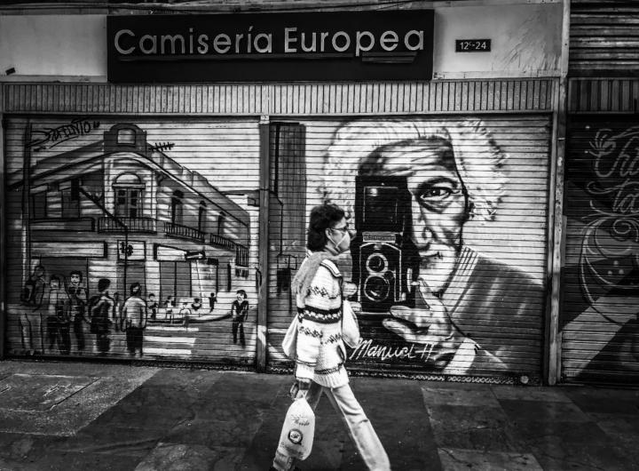 La carrera Séptima de Bogotá en cuarentena