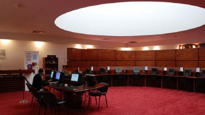 Sala de audiovisuales de la BLAA
