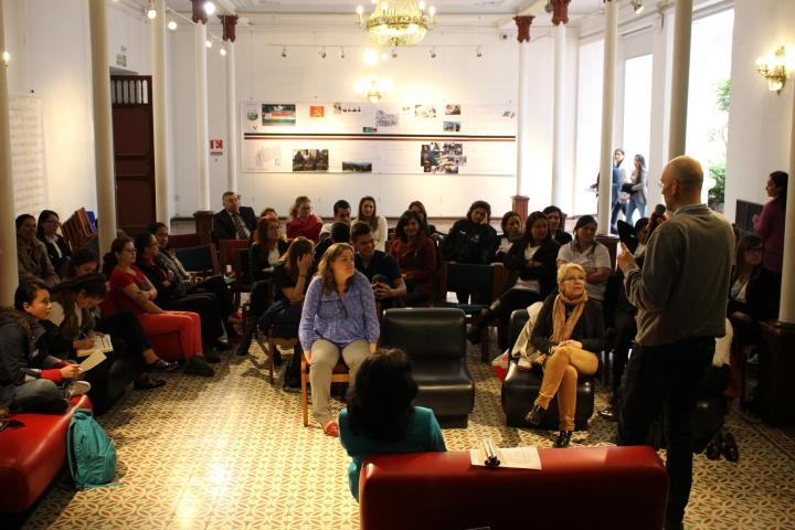 Auditorio participante en actividad de Enlazados por la Paz el pasado agosto