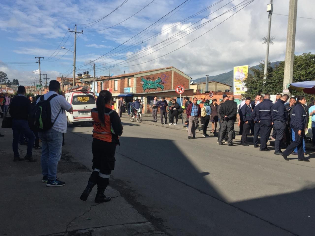 15.000 afectados por el paro de transportes en Chía
