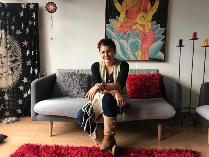 Ayda Luz Valencia en su consultorio
