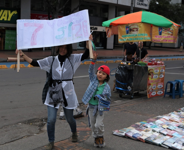 Marcha por la Consulta Anticorrupción en Bogotá. Crédito de la foto: Juliana Torres Malagón