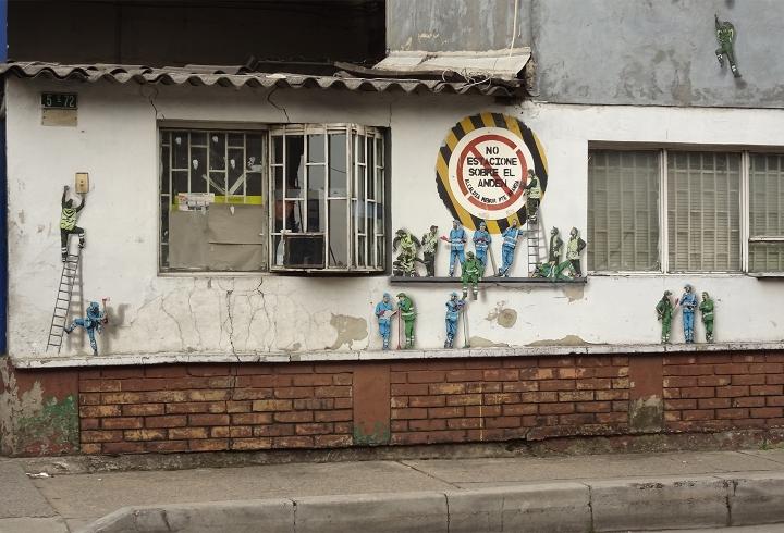 Obreros en Distrito Grafiti