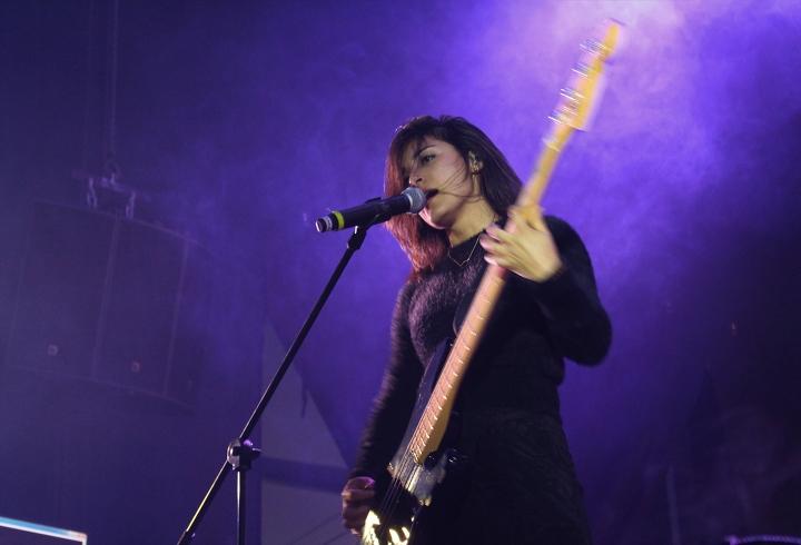 Isabel Valencia bajista de La Pestilencia