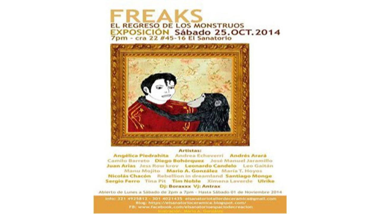"""La cabida de lo raro y lo sombrío en el arte,  exposición """"FREAKS"""""""