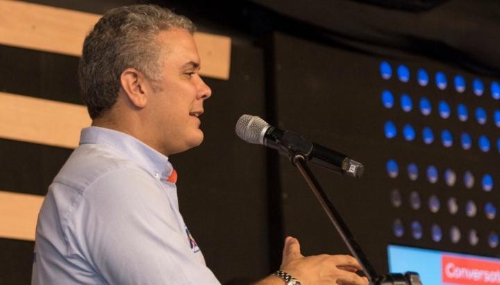 El candidato presidencial, Iván Duque.