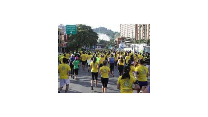 La carrera se realizó en el Parque Simón Bolívar.