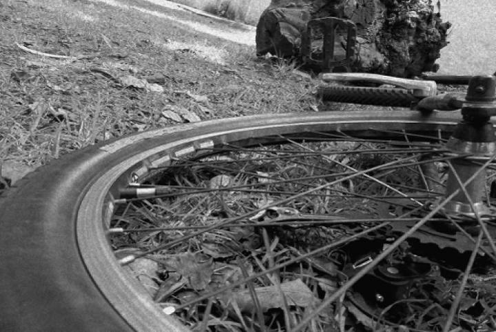 Bicicleta tirada en Bogotá