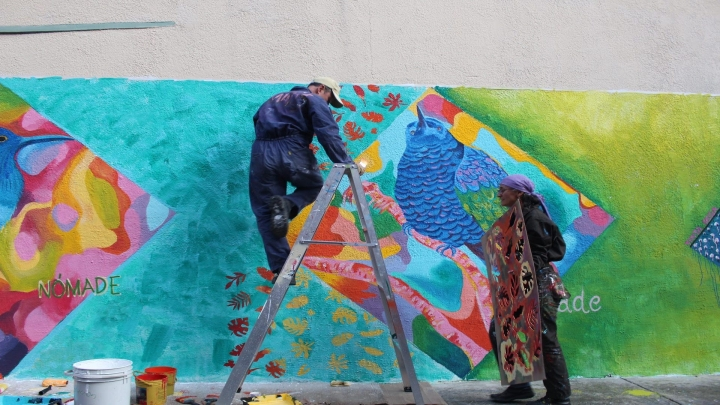 Día de 3 de jornada de muralismo