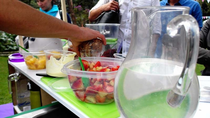Quienes asistieron al evento disfrutaron de una Feria Gastronómica que complementa la temática de la jornada: la vida saludable