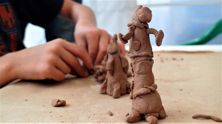 Los niños aprendieron que la creación es también una arte para aliviar el alma
