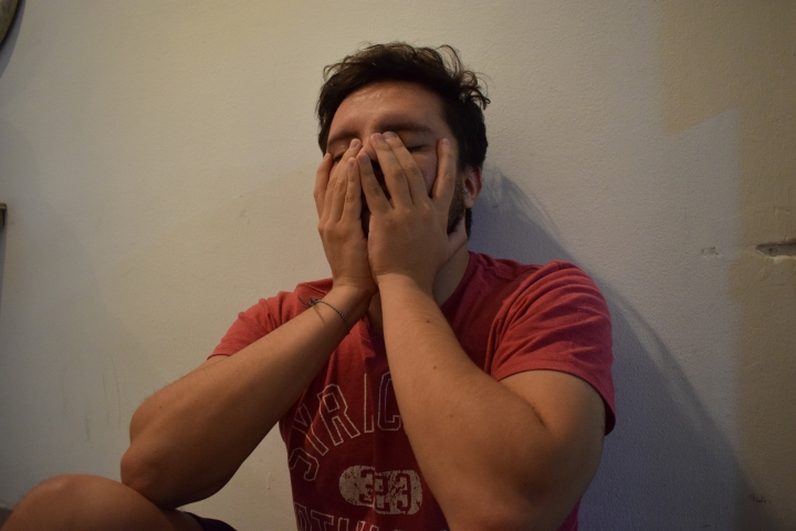 Recreación de un ataque de ansiedad durante la cuarentena