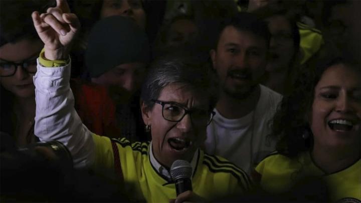 Claudia Lopéz durante su discurso el 26 de agosto, tras saber los resultados de la Consulta Anticorrupción. Crédito de la foto: David Goméz Acosta