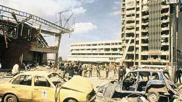 Edificio del DAS destruido