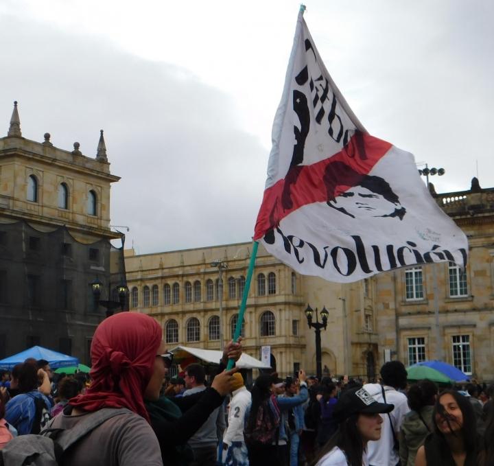 Muchos de los asistentes a las marchas mostraban un espíritu revolucionario, buscando un cambio radical en el país.