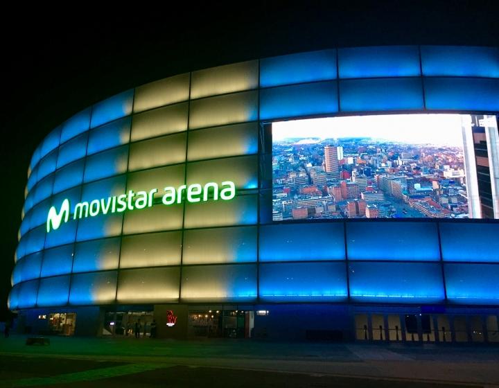 Deslumbramiento del Movistar Arena. Foto de Catalina Sanabria