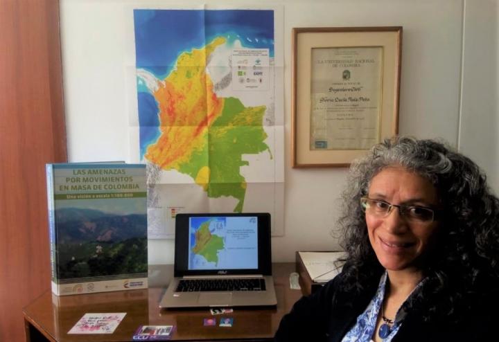 Gloria Ruiz: La pieza angular para la creación del Mapa Nacional de Amenazas por Movimientos en Masa escala 1:100.000.