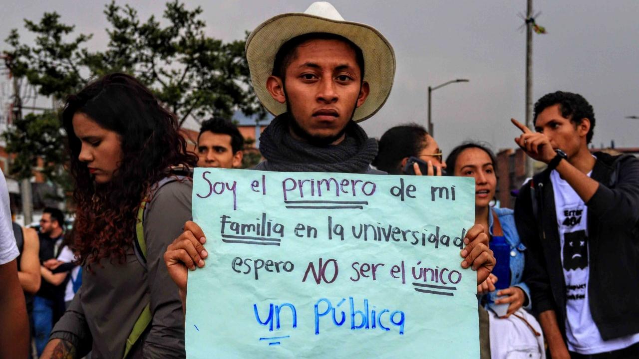 Así fue la gran marcha estudiantil del pasado 10 de octubre en Bogotá