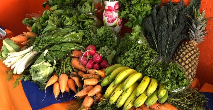 Mercado orgánico en restaurante Jengibre