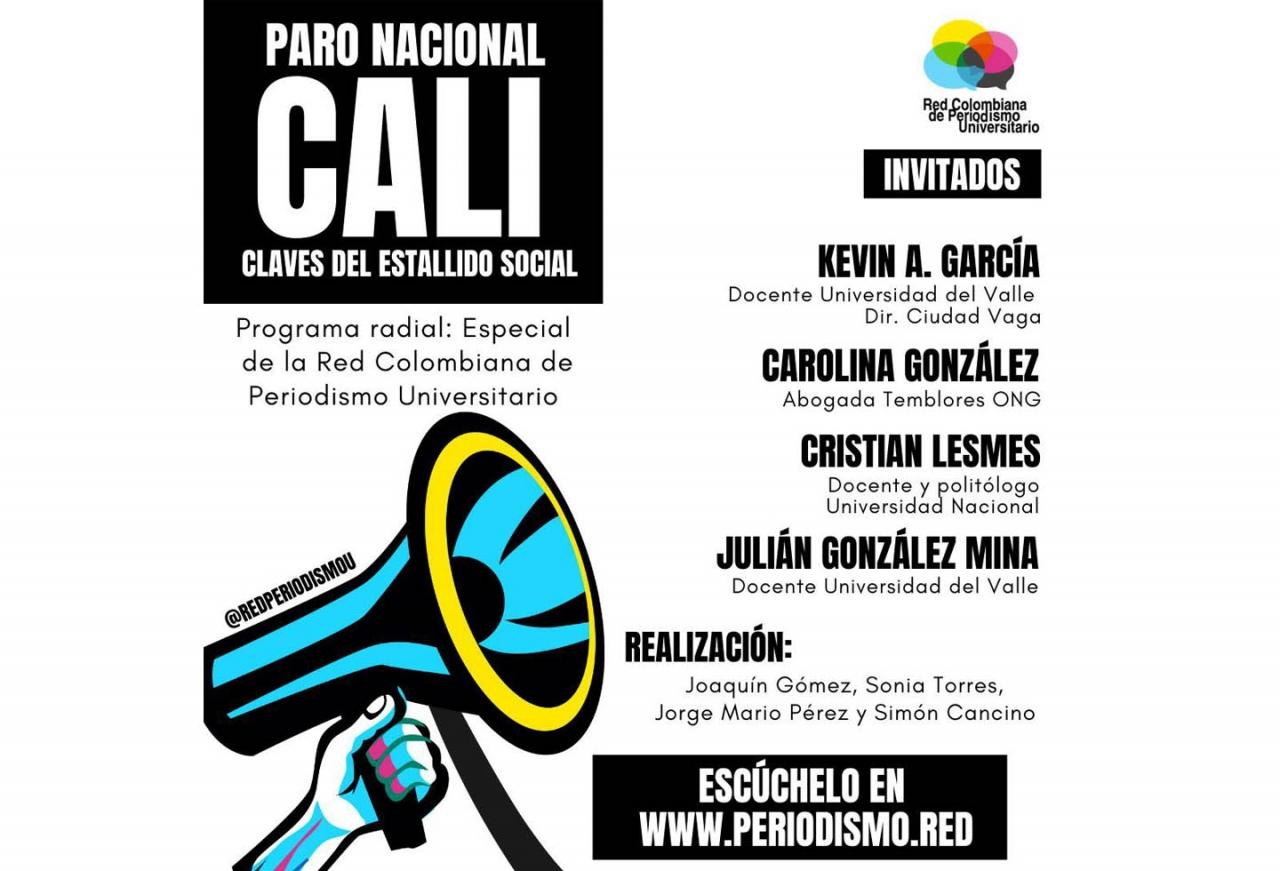 Cali en el paro nacional: Especial de la Red Colombiana de Periodismo Universitario