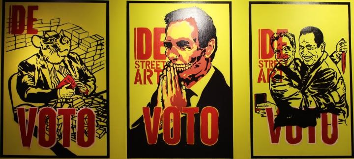 Graffitis dibujados por Marcel Marentes o 'Vogel Vaterlos'. Créditos: Viviam Leguizamón