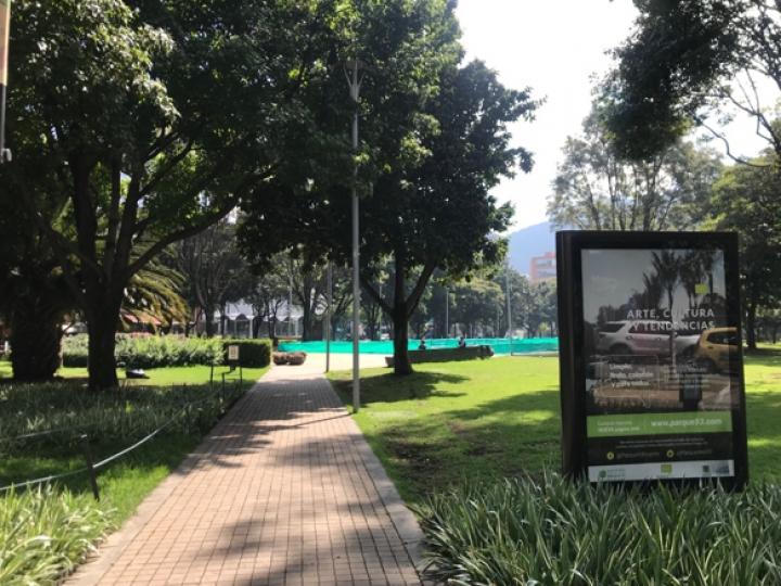 El Parque de la 93, ubicado en el norte de Bogotá.