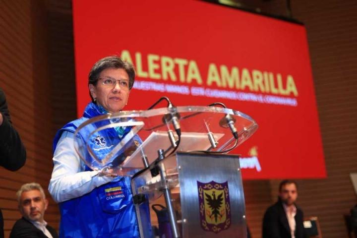 Claudia López anunció alerta amarilla de emergencia por coronavirus