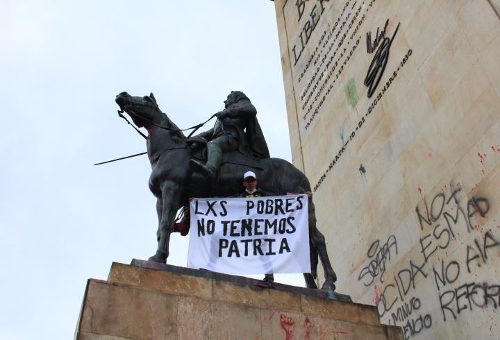 """""""Lxs pobres no tenemos patria"""" en Monumento a los Héroes 10/05/2021"""