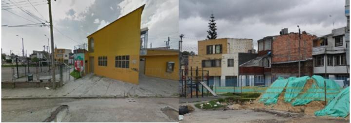 Antes y después de las zonas comunales del barrio La Reliquia