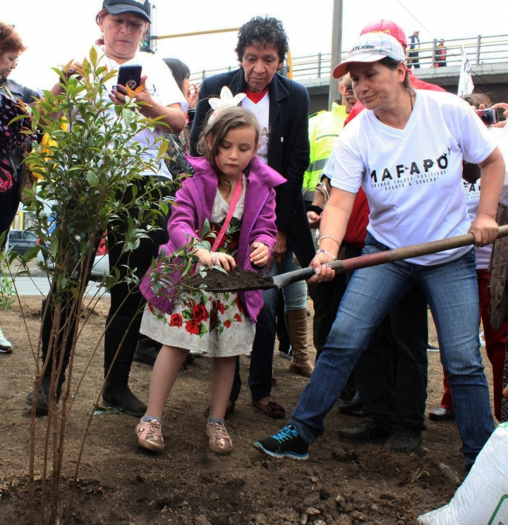 Prefirieron sembrar árboles como muestra de vida en lugar de la construcción del monumento.