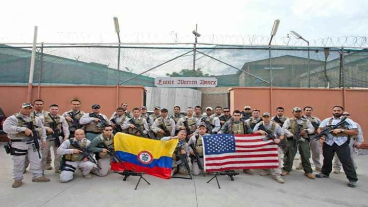 En el grupo de escoltas se encontraban 50 colombianos. Ernesto tenía compañeros de varios países.