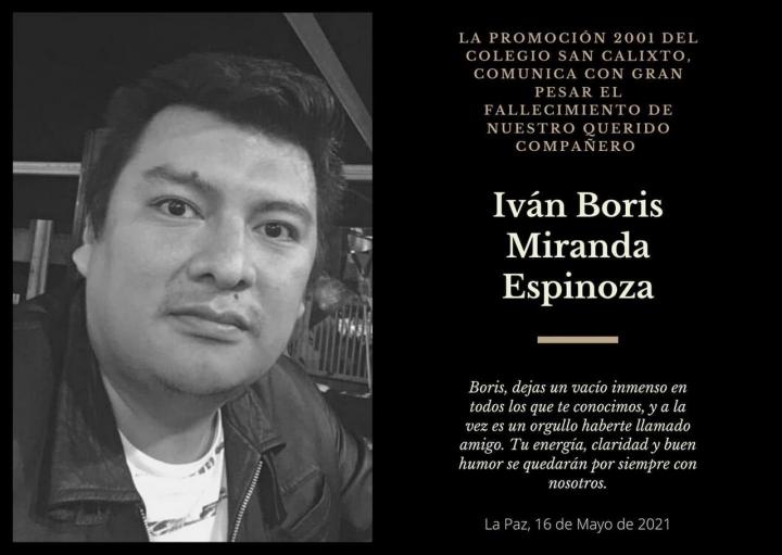 En la memoria de Boris Miranda, periodista