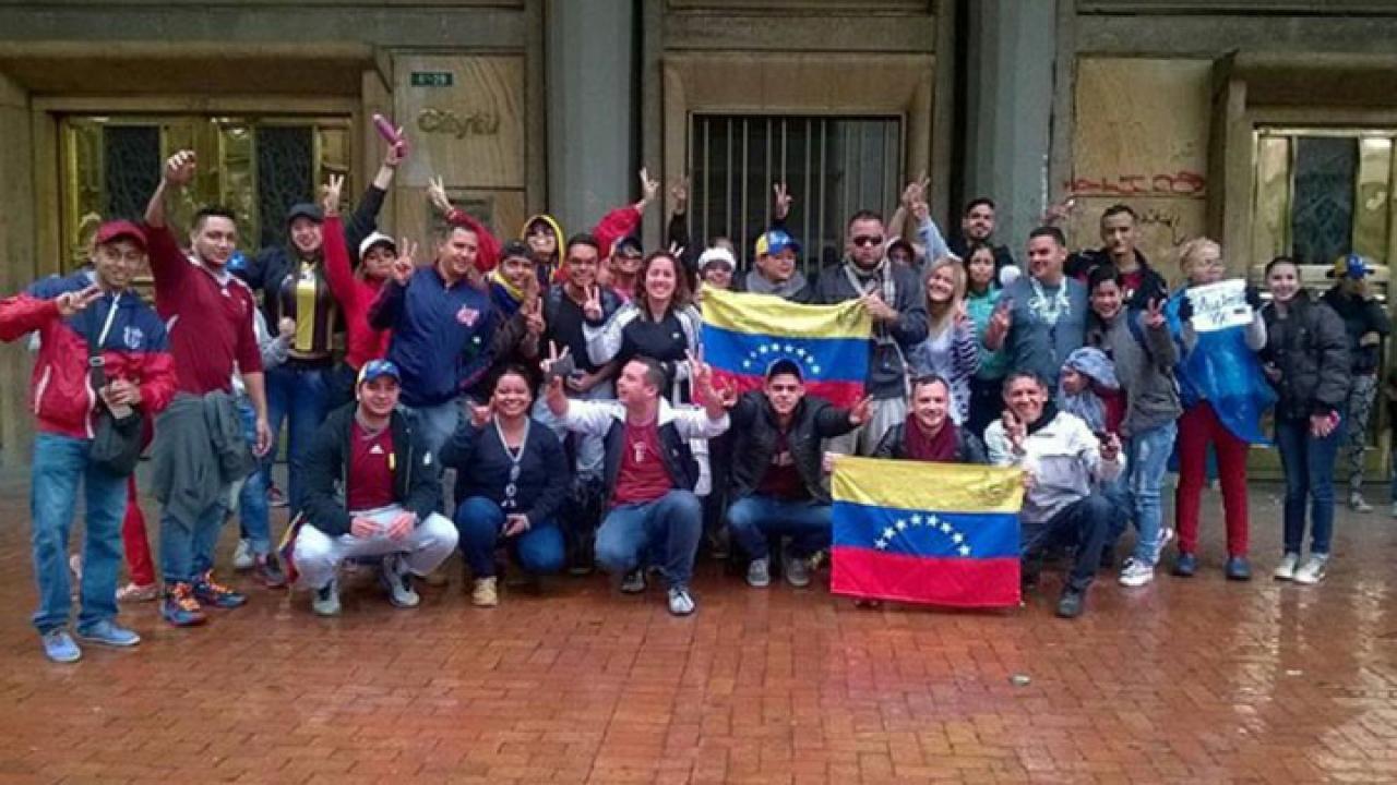 En Bogotá los venezolanos se reencuentran con su país