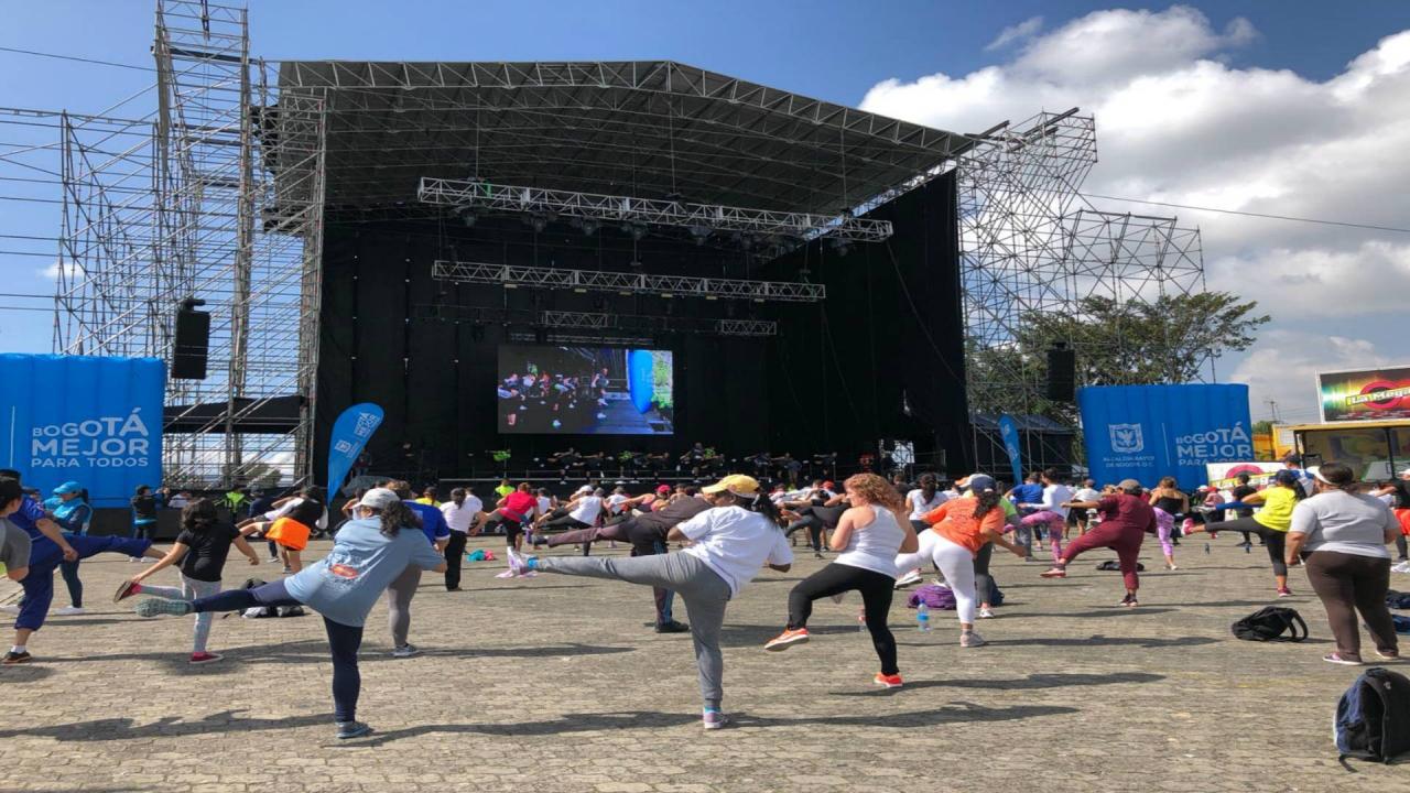 Termina el mes de la actividad física en Bogotá