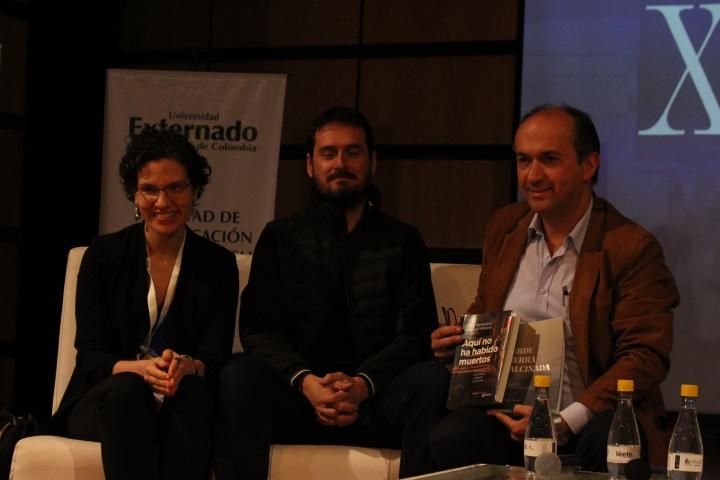 María McFarland, Juan Miguel Álvarez y Darío Fernando Patiño