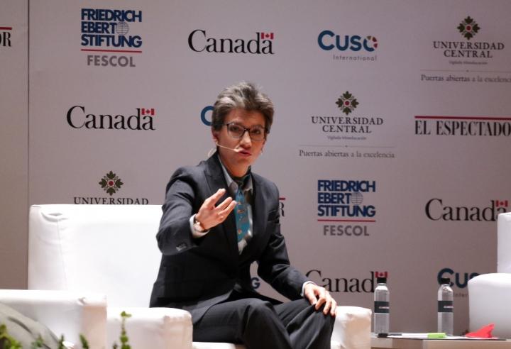 Claudia López, fórmula vicepresidencial de Sergio Fajardo. Crédito fotos: Camila Rodríguez y Camila Carrillo