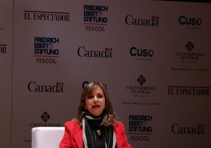 Ángela María Robledo, fórmula vicepresidencial de Gustavo Petro. Crédito fotos: Camila Rodríguez y Camila Carrillo