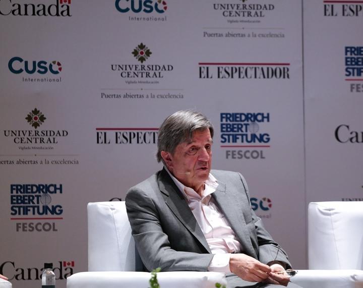 Jorge Leyva Durán, fórmula vicepresidencial de Viviane Morales. Crédito fotos: Camila Rodríguez y Camila Carrillo