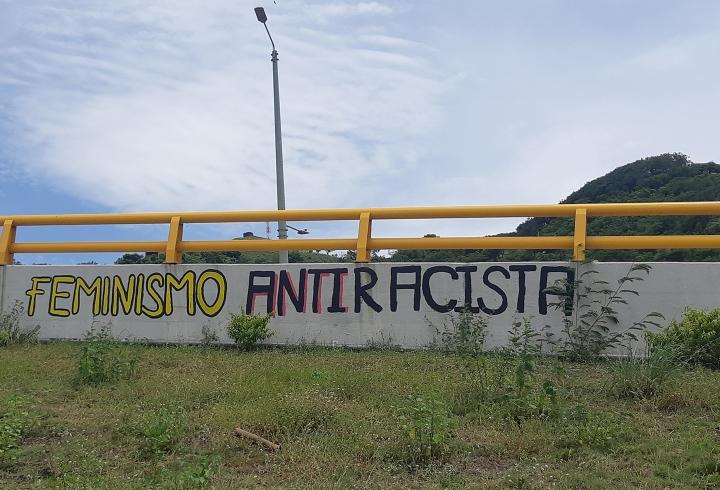 Otro de los murales realizado por la Red de Movilización Feminista de Norte de Santander, fue el de 'Feminismo Antiracista'