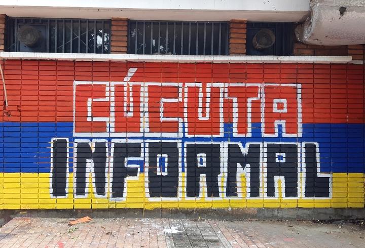 'Cúcuta Informal' - Mural ubicado en el Parque Telecom, realizado durante el Paro Nacional