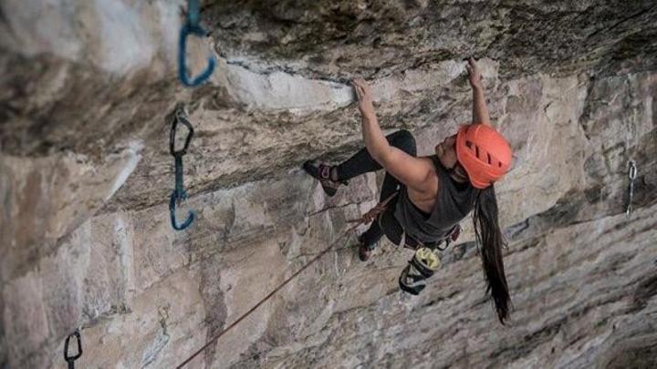 Daniela Forero, escaladora deportiva que ha participado en varias competencias nacionales