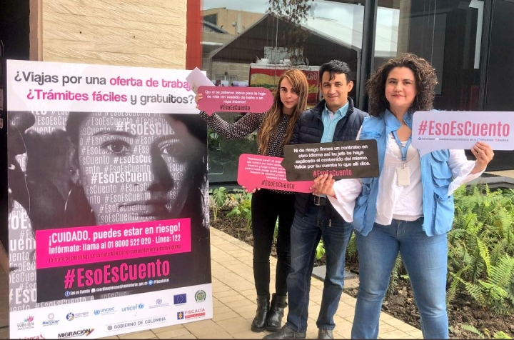 Lanzan campaña contra la trata de personas en Colombia