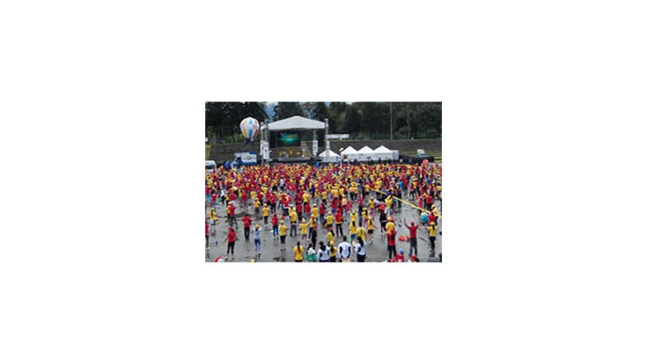 AEROBIC FEST: Bogotá vivió la primera súper maratón de aeróbicos