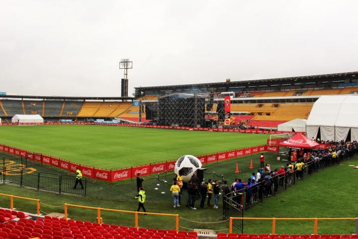 La Copa del Mundo de visita en Bogotá