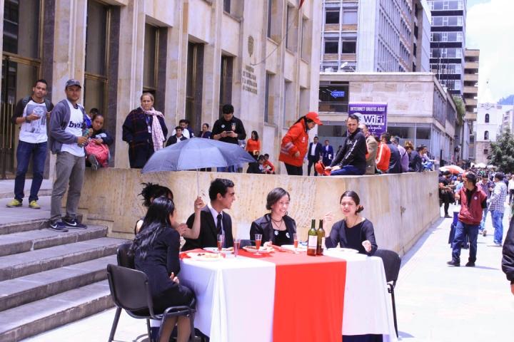 Entre los eventos culturales realizados por los jóvenes, también hubo representaciones teatrales. Foto: María Paula Parada