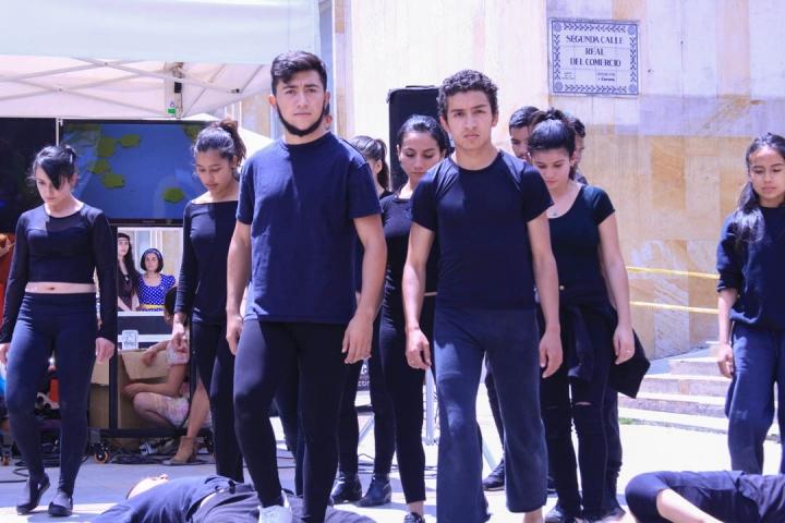 La Facultad de Artes ASAB, de la Universidad Distrital, también se unió a la jornada. Foto: María Paula Parada