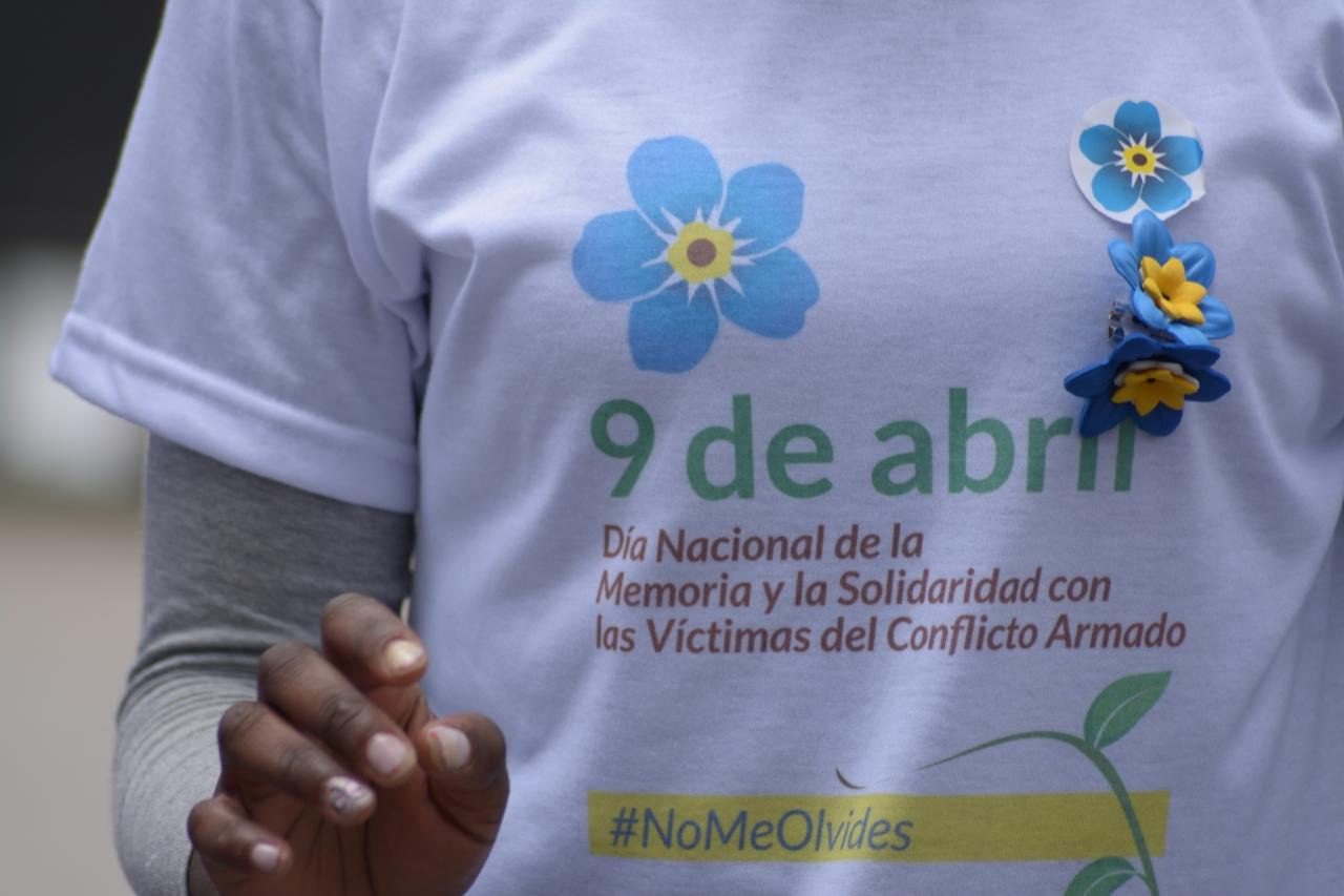 Las fotos de la conmemoración del 9 de abril en el Centro de Bogotá